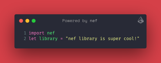 Example: use of nef library